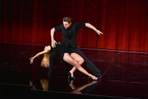 """Derek Hough and Ekaterina Fedosova perform at """"Whose Dance Is It Anyway?"""" February 16, 2017, at the Saban Media Center in North Nollywood, California."""