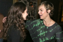 Emily Robinson and Melora Hardin at the reception following Transparent: Anatomy of an Episode, March 17, 2016 in Los Angeles.