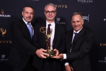 Frank Zeider, Harald Brendel, and Glenn Kennel with the award for ARRI Alexa Camera System at the 69th Engineering Emmy Awards at the Loews Hollywood Hotel on Wednesday, October 25, 2017 in Hollywood, California.
