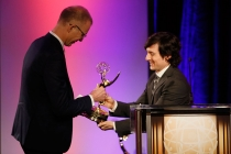 Mark Franken and Josh Brener at the 2015 Engineering Emmys at the Loews Hotel in Los Angeles, October 28, 2015.