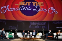 "Panelists onstage at ""But the Characters Live On!"" in the Wolf Theatre at the Saban Media Center in North Hollywood, California, March 2, 2017."