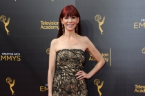 Carrie Preston on the red carpet at the 2016 Creative Arts Emmys.