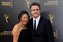 Debbie Dao and Sean Callery on the red carpet at the 2016 Creative Arts Emmys.