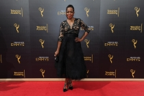 Tichina Arnold on the red carpet at the 2016 Creative Arts Emmys.