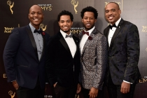 Sons of Serendip on the red carpet at the 2016 Creative Arts Emmys.
