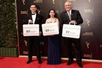 The accountants of Ernst and Young on the red carpet at the 2016 Creative Arts Emmys.