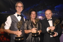 Mark Kebby, Linda Wilson, and Donal Woods at the 2016 Creative Arts Ball.