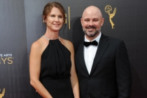 David Wiener and guest on the red carpet at the 2016 Creative Arts Emmys.