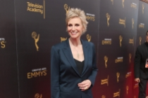 Jane Lynch on the red carpet at the 2016 Creative Arts Emmys.