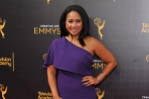Tracie Thoms on the red carpet at the 2016 Creative Arts Emmys.