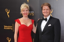 Rachel Klein and Bradley Glenn on the red carpet at the 2016 Creative Arts Emmys.