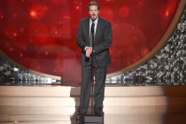 Bryce Zabel on stage at the 2016 Creative Arts Emmys.
