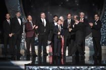 Seth Green and the team from Robot Chicken accept their award at the 2016 Creative Arts Emmys.