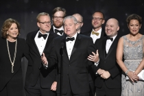 The producers from Archer accepts their award at the 2016 Creative Arts Emmys.