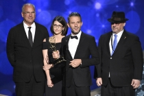 The producers from Park Bench with Steve Buscemi accepts an award at the 2016 Creative Arts Emmys.