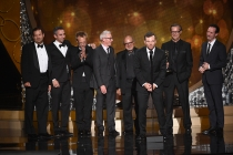 The producers from Grease: Live accepts their award at the 2016 Creative Arts Emmys.