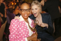 RuPaul Charles and Jane Lynch at the 2016 Creative Arts Ball.