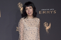 Sarah Barnett on the red carpet at the 2017 Creative Arts Emmys.