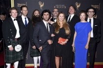 The team from American Epic on the red carpet at the 2017 Creative Arts Emmys