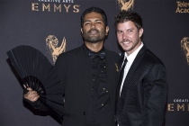 Hector Pocasangre and Nathan Reed on the red carpet at the 2017 Creative Arts Emmys.