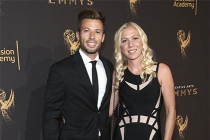 Jason Marello and Tara Long on the red carpet at the 2017 Creative Arts Emmys.
