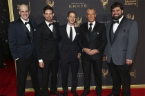 Dan Murrell, Joe Starr, Spencer Gilbert, Michael Bolton, and Andy Signore on the red carpet at the 2017 Creative Arts Emmys.