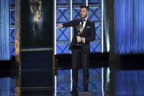 Travis Wall accepts his award at the 2017 Creative Arts Emmys.