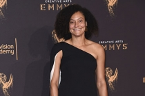 Kira Kelly on the red carpet at the 2017 Creative Arts Emmys.