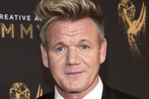 Gordon Ramsay on the red carpet at the 2017 Creative Arts Emmys.