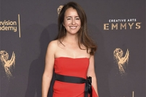 Michelle Dougherty on the red carpet at the 2017 Creative Arts Emmys.