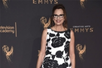 Patricia McLaughlin on the red carpet at the 2017 Creative Arts Emmys.