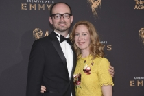 Real Jone and Sara Wolstenholme on the red carpet at the 2017 Creative Arts Emmys.