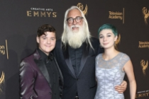 Rodney Taylor and guests on the red carpet at the 2017 Creative Arts Emmys.