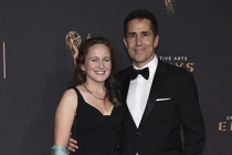 Cat Quayle and Mac Quayle on the red carpet at the 2017 Creative Arts Emmys.