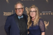Tim Ives and guest on the red carpet at the 2017 Creative Arts Emmys.