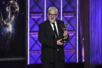 Martin Childs accepts his award at the 2017 Creative Arts Emmys.