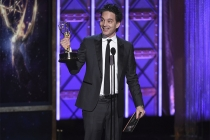 Jeff Russo accepts his award at the 2017 Creative Arts Emmys.