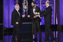David Miller accepts his award at the 2017 Creative Arts Emmys.