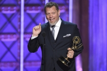 Christien Tinsley accepts his award at the 2017 Creative Arts Emmys.
