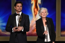John Stamos and Christina Pickles