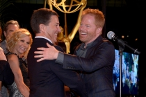 Bruce Rosenblum (l) and Jesse Tyler Ferguson (r) of Modern Family attend the Performers nominee reception.