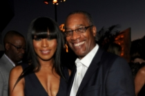 Angela Bassett (l) of American Horror Story: Coven and Joe Morton (r) of Scandal attend the Performers nominee reception.
