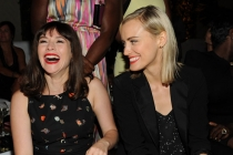 Yael Stone (l) and Taylor Schilling (r) of Orange Is the New Black attend the Performers nominee reception.