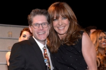 Bob Bergen (l) and Allison Janney (r) of Masters of Sex and Mom attend the Performers nominee reception.
