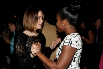 Sarah Paulson (l) of American Horror Story: Coven and Uzo Aduba (r) Orange Is the New Black attend the Performers nominee reception.