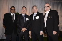 (From left) Screech Washington, Iain Paterson, Robert Zotnowski and Tim Gibbons attend the Producers nominee reception.