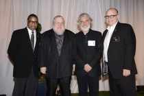 (From left) Screech Washington, George R.R. Martin, Christopher Newman and Tim Gibbons attend the Producers nominee reception.