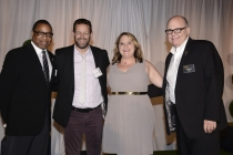 (From left) Screech Washington, K.P. Anderson, Hathaway Loftus and Tim Gibbons attend the Producers nominee reception.