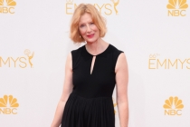 Frances Conroy of American Horror Story arrives at the 66th Emmy Awards.
