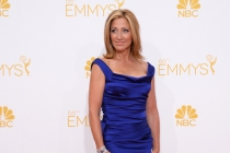 Edie Falco of Nurse Jackie arrives at the 66th Emmy Awards.